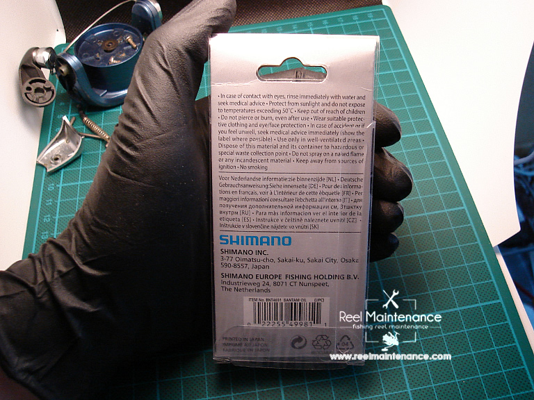 shimano bantam reel oil description